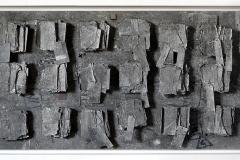 Marek Kulig. Archivum - Liber Manu Scriptus - Artefakty (2011,69x160cm, akryl, karton, assemblage)