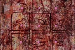 39. Zapis Inskrypcja (2007, 40x30cm, akryl, płótno)
