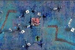 49. Zapis-Całun, rok 2004, 30x190cm