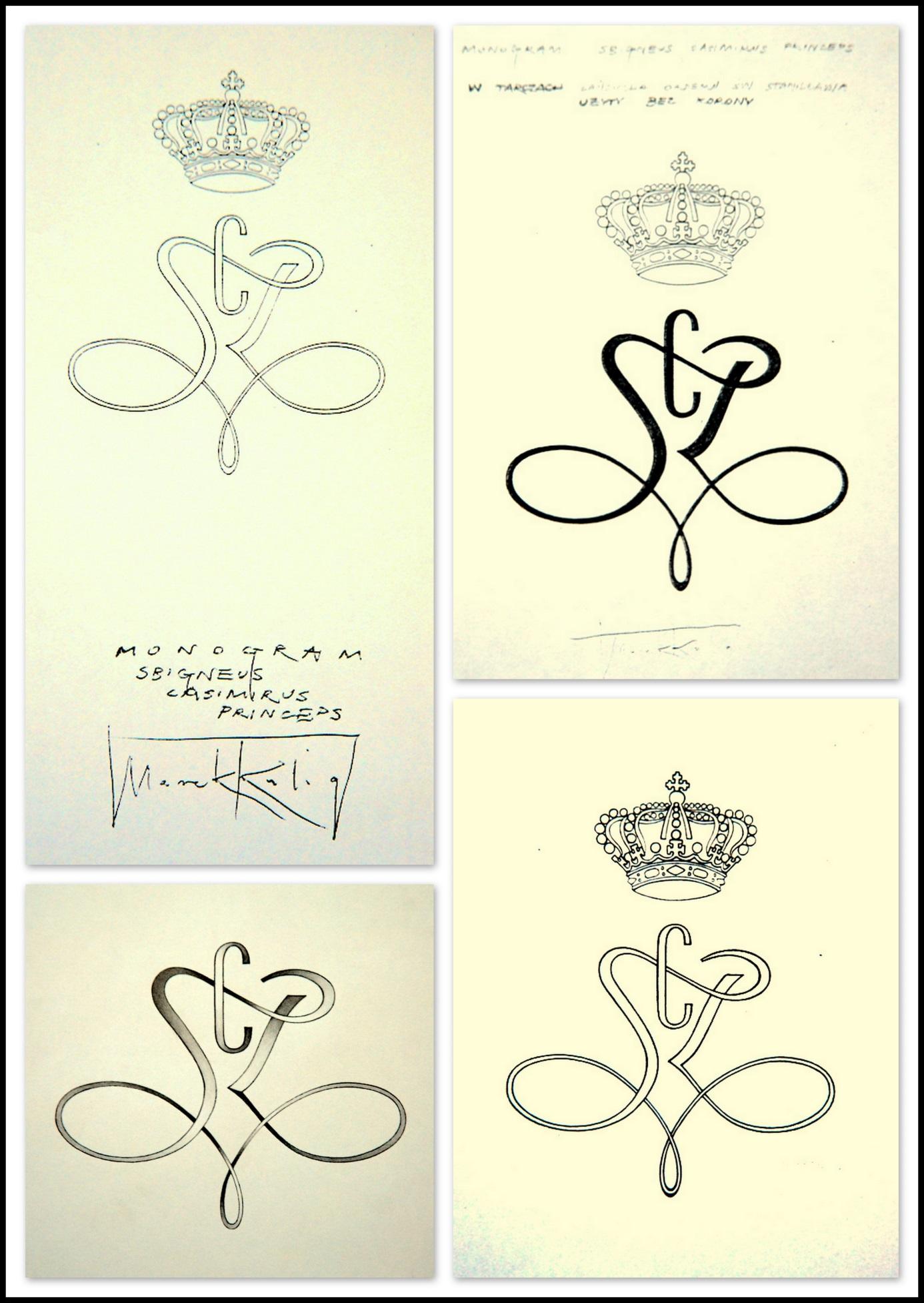 """Projekt monogramu """"Sbigneus Casimirus Princeps"""", Wrocław, 2000"""