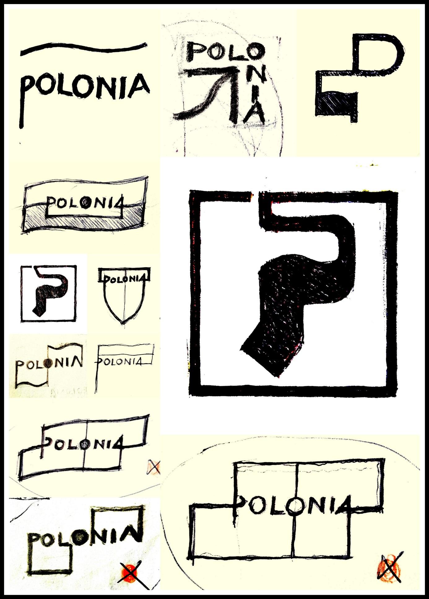 """Projekty koncepcyjne logo dla """"PHU Polonia"""", Wrocław, 2008"""