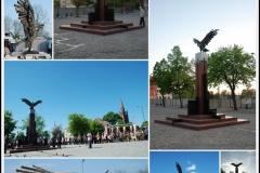 """""""Pomnik Orła Białego"""" - Dębno (realizacja w brązie i kamieniu), 2007"""