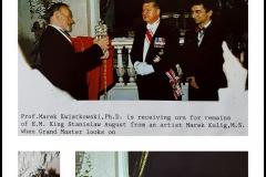 Urna na prochy ostatniego Króla Polski Stanisława Augusta Poniatowskiego, prezentacja, uroczyste przekazanie - Muzeum Łazienki Królewskie w Warszawie.