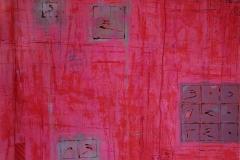 38. Zapis -INFO (2007, 70x100cm, akryl, karton)