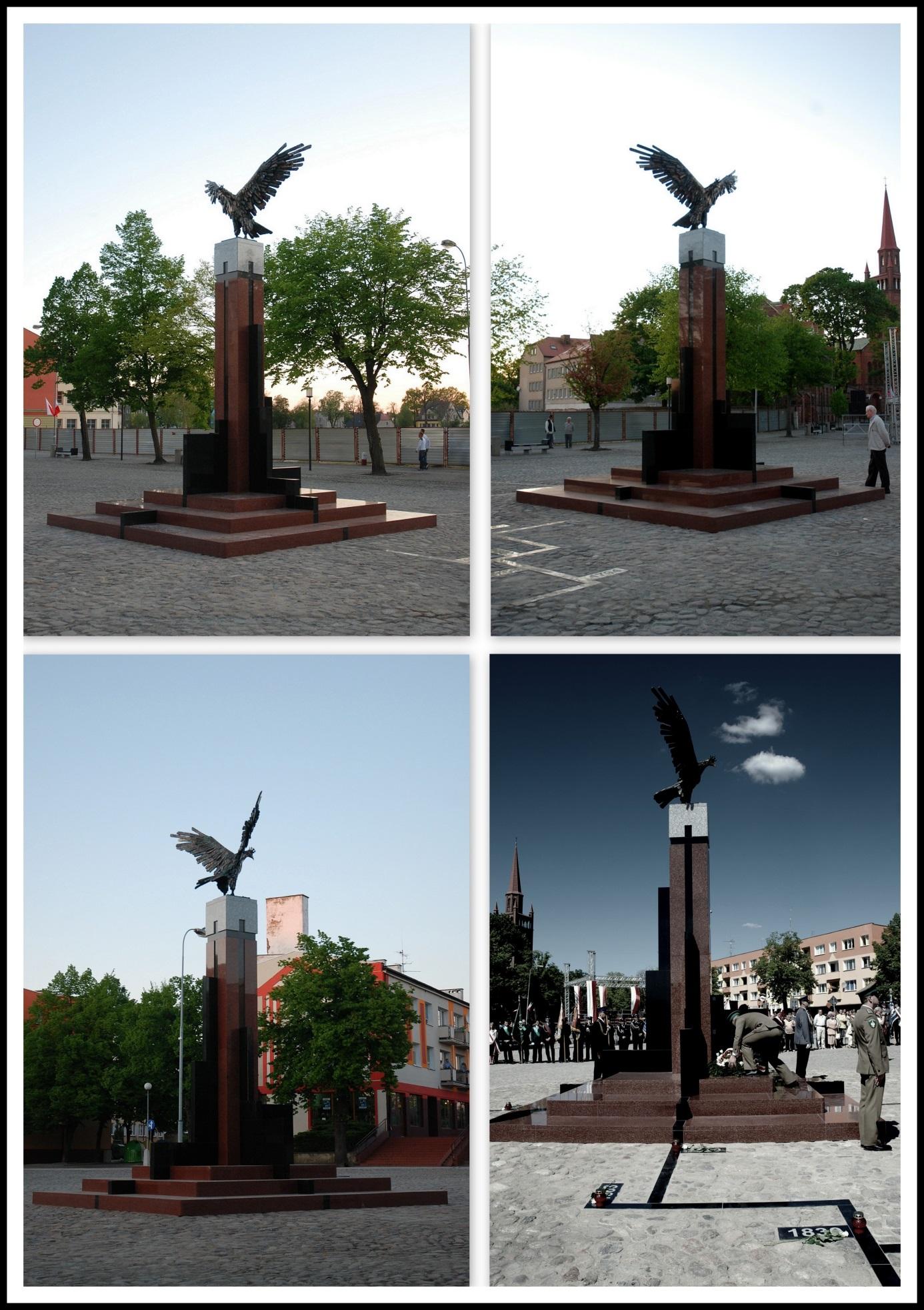 """""""Pomnik Orła Białego"""" - Dębno, (realizacja w brązie i kamieniu), 2007"""