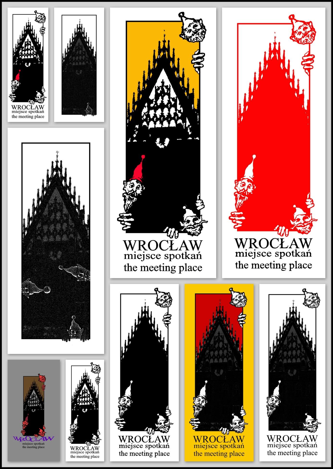 """Projekt znaku graficznego wraz z animacją """"Wrocław miejsce spotkań"""" dla PHU POLONIA, Wrocław, 2008"""