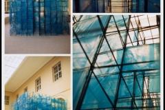 """""""DIALOG"""", instalacja (Neues) Rathaus zu Dresden, Ratusz- Drezno, Niemcy, (300x300x300cm), 1997"""