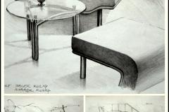 """Projekt mebli tapicerowanych """"YAPI"""" dla firmy """"ASTER MEBEL"""", wdrożony kwiecień 2000r., projekt wykonany wspólnie z Jackiem Kuligiem, 2000"""